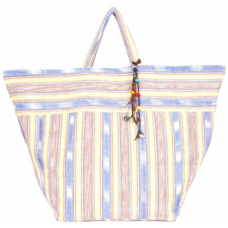 Samui Stripe Beach Bag - Yellow 1