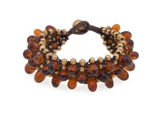 Beaded Cuff  Brown 1