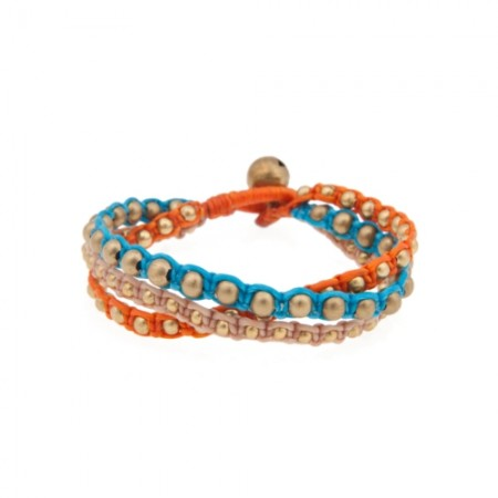 NAI 610 Orange Turquoise Beige - JADEtribe / jade tribe