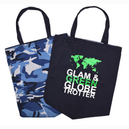 Canvas Tote Glam Globe Trotter - JADEtribe / jade tribe